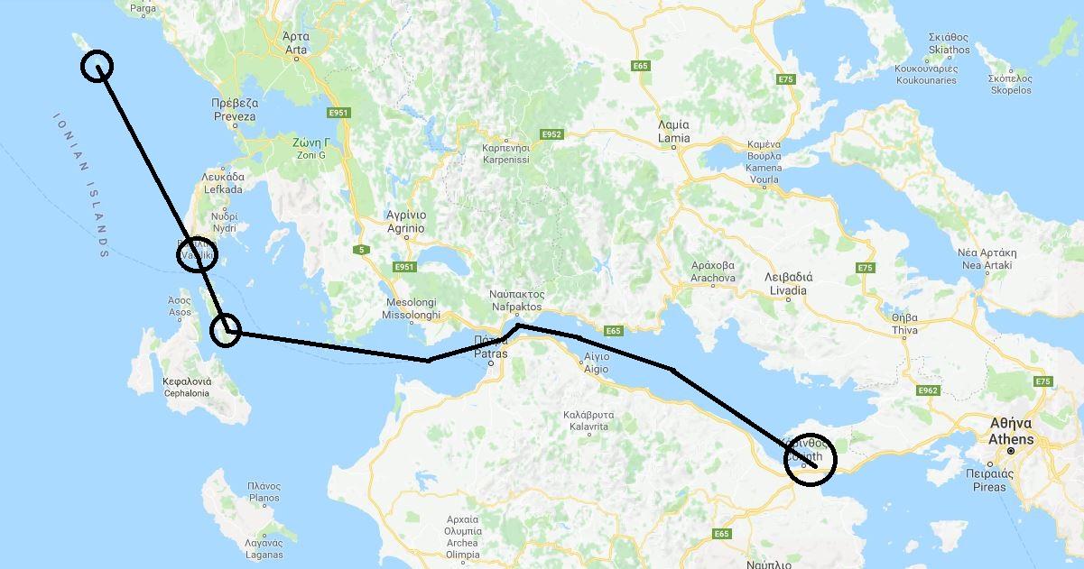 Daedalus Adventure - Plovidba Mediteranom - mapa