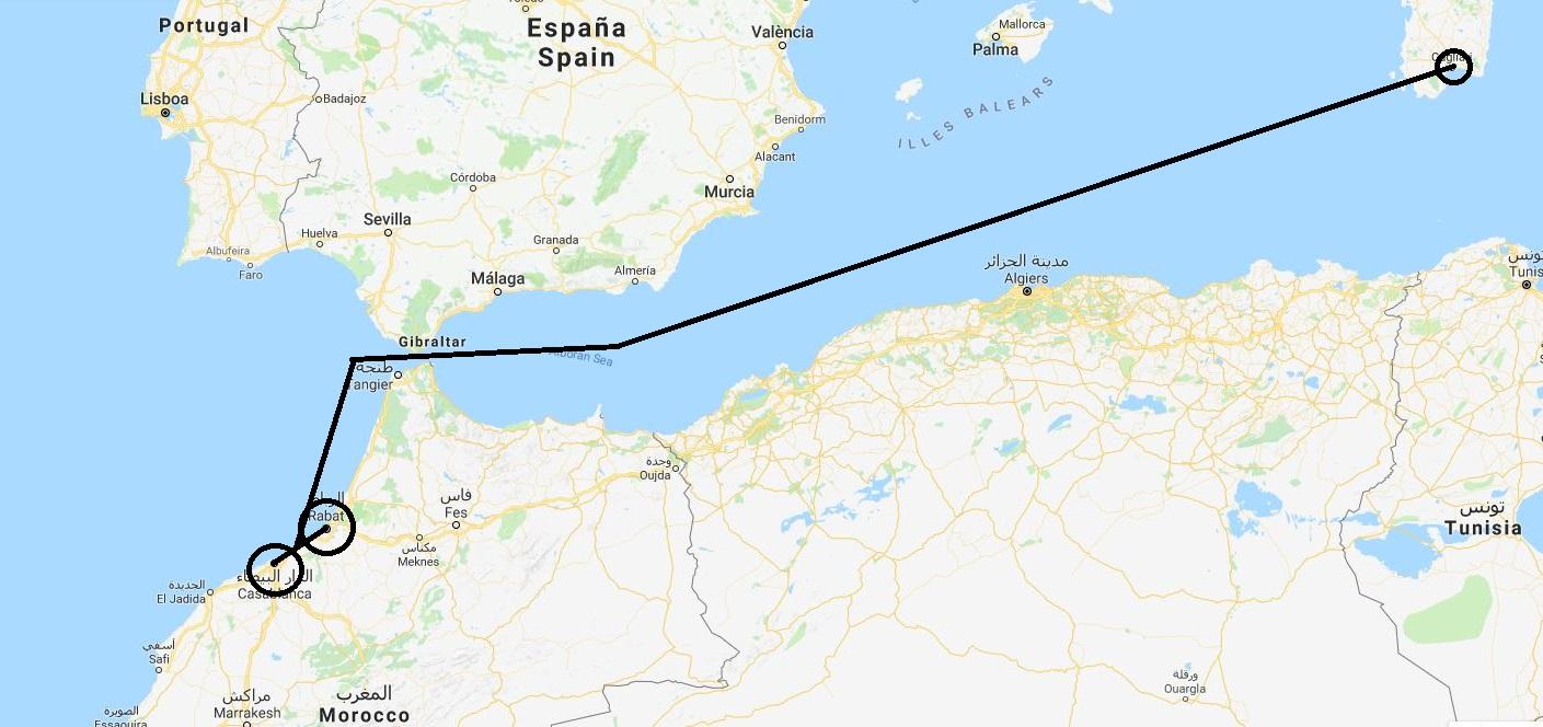 Daedalus Adventure: Maroko - mapa