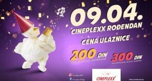 Veliko rođendansko slavlje bioskopa Cineplexx 9. aprila