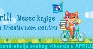 April - mesec knjige u Kreativnom centru