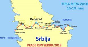 Trka mira 2018 - trasa kroz Srbiju