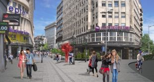 Sremska ulica i Knez Mihailova - ilustracija