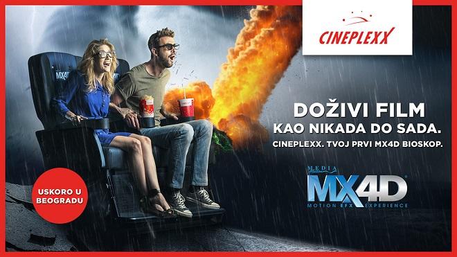 MX4D: Prvi Cineplexx 4D bioskop uskoro u Beogradu