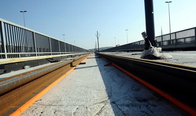 Tramvaji preko Mosta na Adi od juna 2019. godine (foto: Predrag Mitić, beograd.rs)