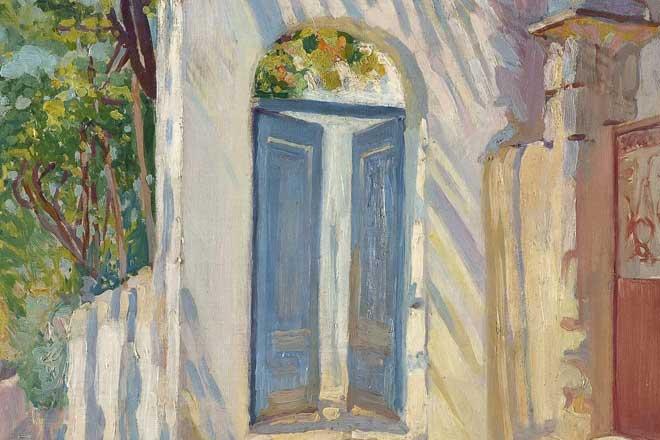 Muzej na minut: Milan Milovanović - Plava vrata (detalj; foto: Narodni muzej)