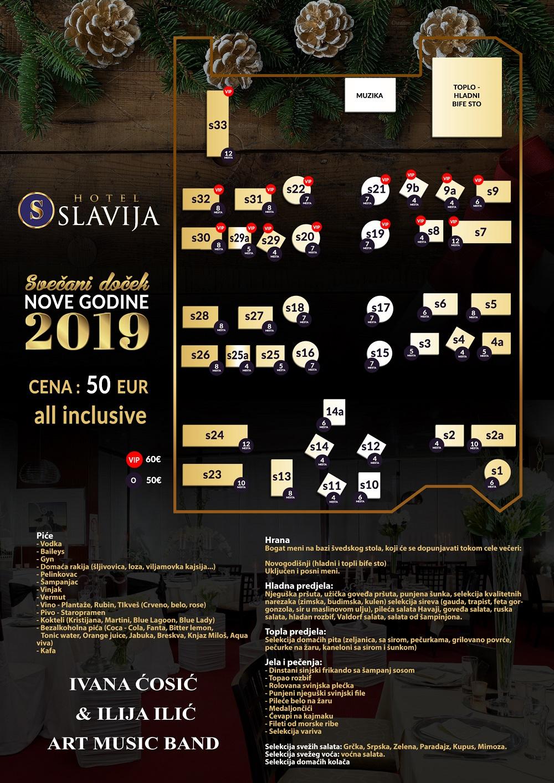 Slavija raspored i piće 2019