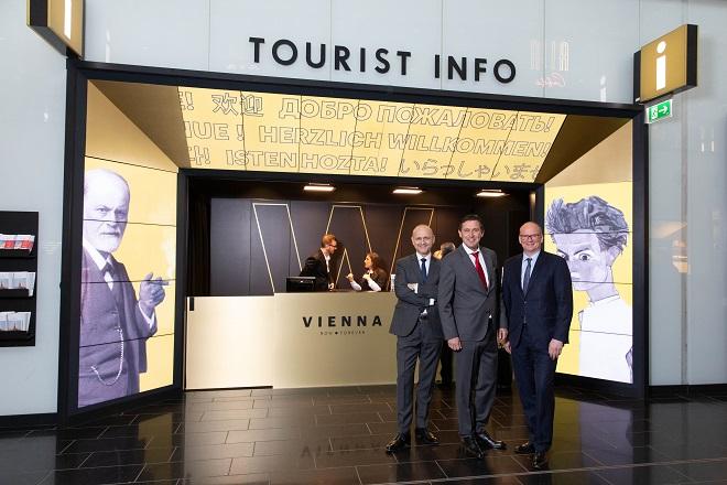 Info pult TO Beča na aerodromu Švehat (© WienTourismus/ Rainer Fehringer)