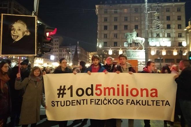 "Protest ""Jedan od pet miliona"" (foto: poceloje.rs)"