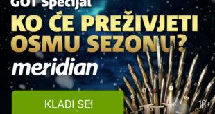 Game of Thrones u kladionici MeridianBet