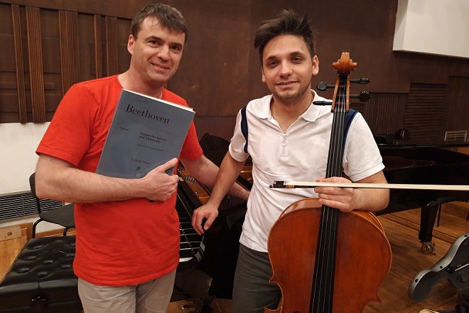 Beogradska filharmonija: Gabrijel Felc i Nemanja Stanković (foto: BGF)