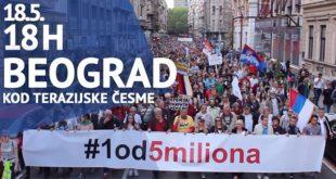 "Protest ""Jedan od pet miliona"", 18. maj 2019."