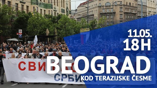 "Protest ""Jedan od pet miliona"", 11. maj 2019."