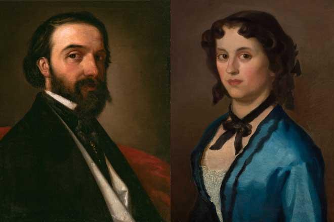 """Izložba """"Đura Jakšić: Između mita i stvarnosti"""": Autoportret (1857/58) i Devojka u plavom (1855)"""