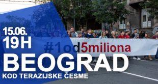 """Protest """"Jedan od pet miliona"""", 15. jun 2019."""