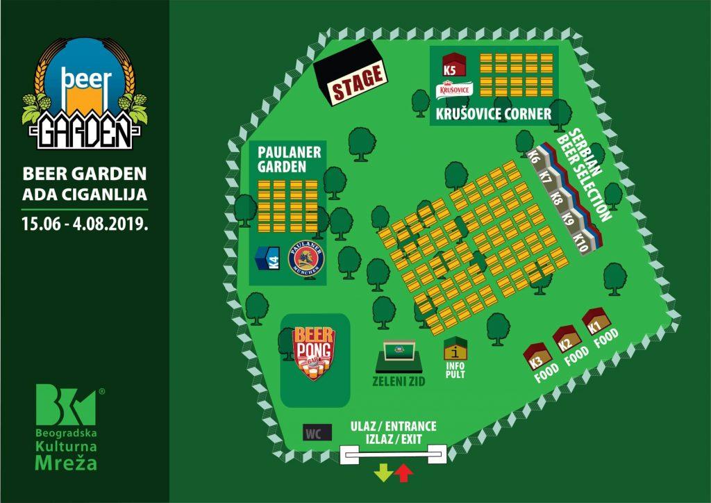 Beer Garden 2019 - mapa