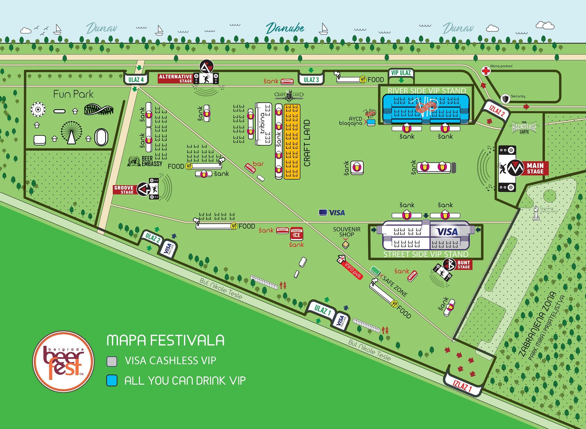 Belgrade Beer Fest 2019 - mapa