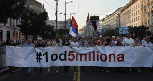 "Protest ""Jedan od pet miliona"" (foto: Kristijan Balan / poceloje.rs)"