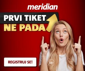 MeridianBet: Prvi tiket ne pada