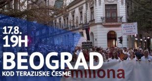 "Protest ""Jedan od pet miliona"", 17. avgust 2019."