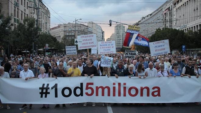 """Protest """"Jedan od pet miliona"""" - #1od5miliona (foto: poceloje.rs)"""