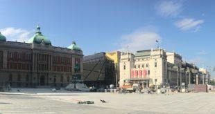 Trg republike: Posle završetka radova - koncert Narodnog pozorišta (foto: Aleksandra Prhal)