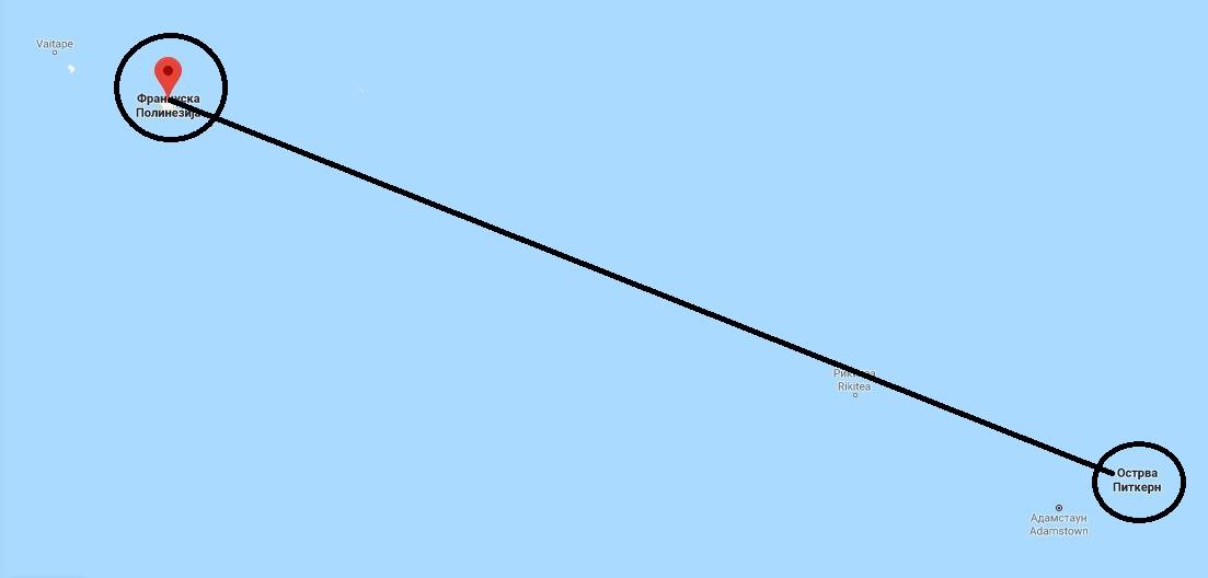 Tahiti - mapa