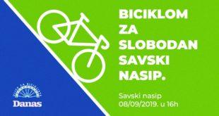 "Biciklistička ""Vožnja za slobodan Savski nasip"""