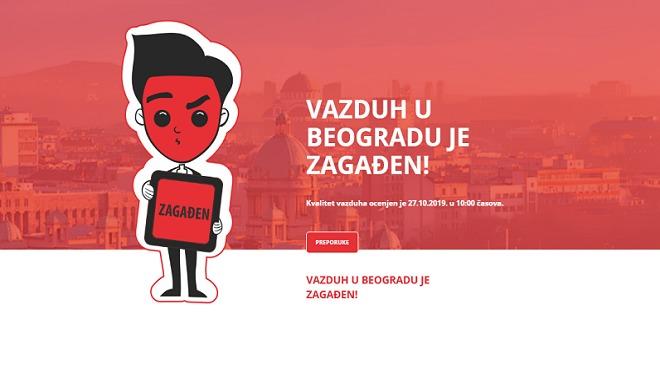 Beograd: I dalje zagađen vazduh u srpskoj prestonici (27. oktobar 2019)