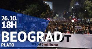 "Protest ""Jedan od pet miliona"", 26. oktobar 2019."