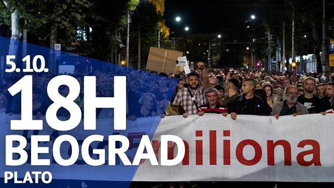 "Protest ""Jedan od pet miliona"", 5. oktobar 2019."
