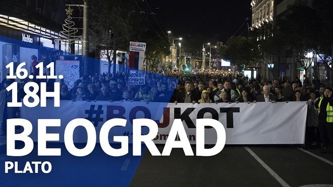 """Protest """"Jedan od pet miliona"""", 16. novembar 2019."""