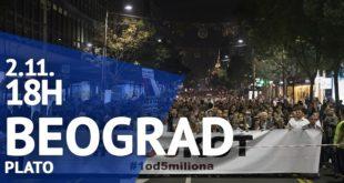 """Protest """"Jedan od pet miliona"""", 2. novembar 2019."""