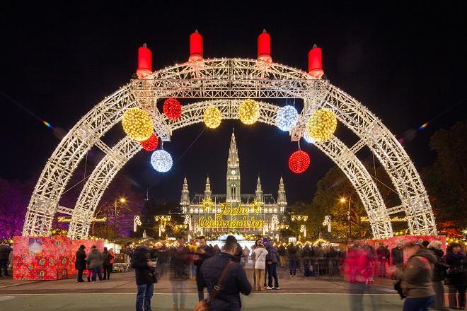 U Beču: Božićni vašar u Beču, na trgu ispred gradske većnice (foto: stadtwienmarketing)
