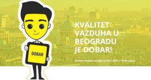 Kvalitet vazduha u Beogradu - 18. januar 2020. u 18.00 (BeoEko)