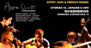 Asseo Quintet i specijalni gosti: Pariska noć u Beogradu