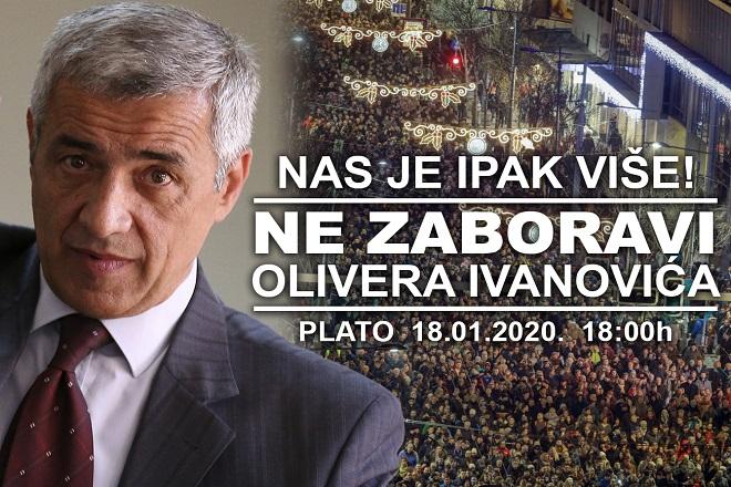 "Protest ""Jedan od pet miliona"", 18. januar 2020. (foto: poceloje.rs)"