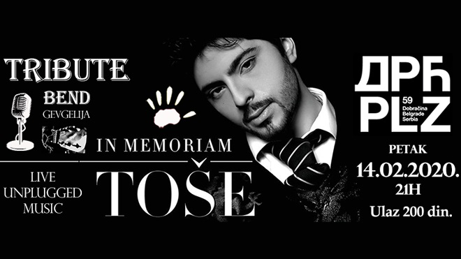 Koncert TOŠE PROESKI TRIBUTE NIGHT u Beogradu (plakat: Forum mladih Makedonaca)
