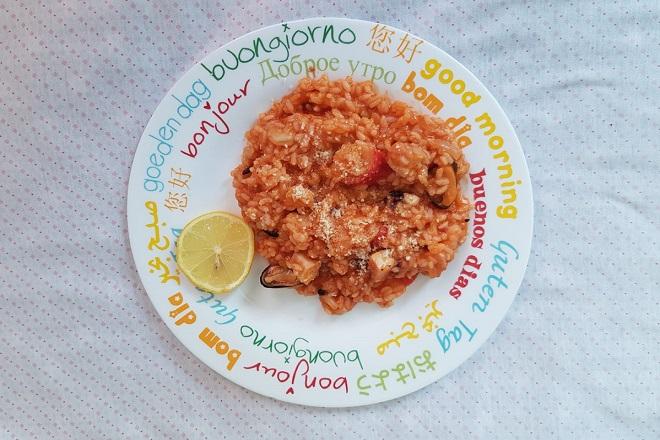 Rižoto sa morskim plodovima (foto: Dunja Filipović © danubeogradu.rs)