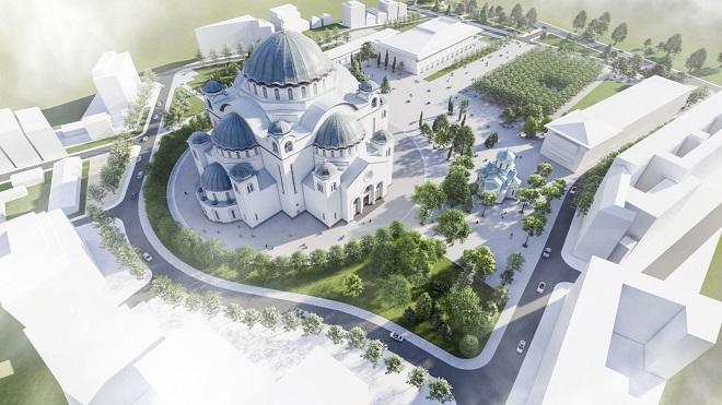Rekonstrukcija parka ispred Hrama Svetog Save
