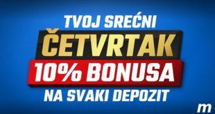 Meridianbet: Nije važno na koji način deponuješ - častimo te sa 10% bonusa