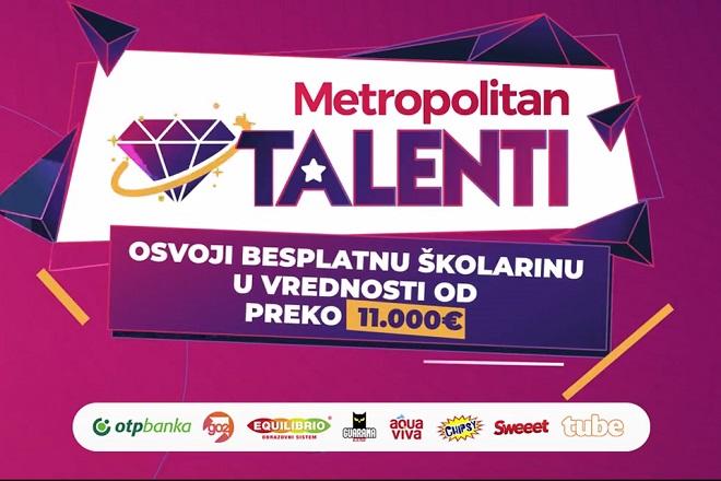 Metropolitan talenti 2020: Osvoji osvoji besplatnu četvorogodišnju školarinu