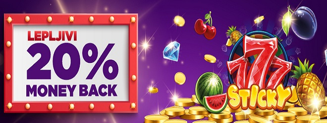 Samo u Meridianu: Sticky 777 - Money Back 20%