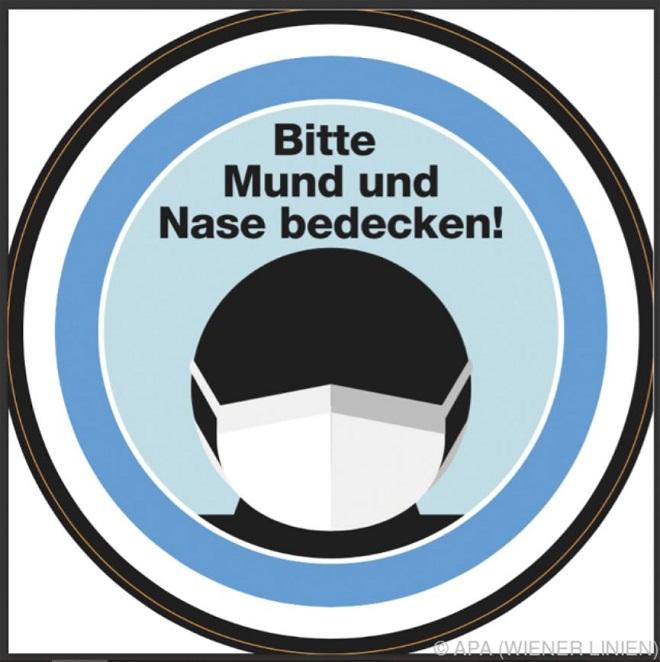 U Beču - novi simbol u gradskom prevozu: obavezno nošenje maske (foto © Wiener Linien)