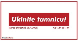 """#1od5miliona: Protestna šetnja """"Ukinite tamnicu"""""""