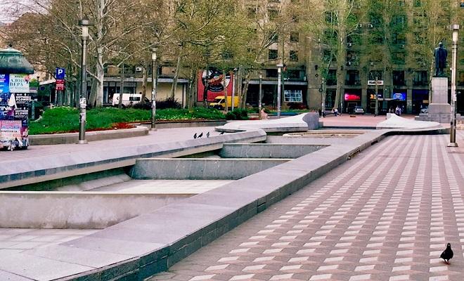 Fontane u Beogradu - Trg Nikole Pašića (foto: Aleksandra Prhal)