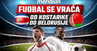 Kladioničarska lista i fudbalska akcija liste - čeka te veliki broj mečeva za kladjenje u Meridianu