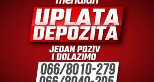 Meridianbet: Novac na računu na telefonski poziv