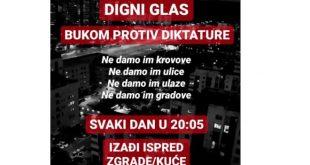 Ne davimo Beograd: Digni glas - Bukom protiv diktature