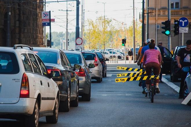 110. Beogradska Kritična masa: Metar je bitan! (fotografiju obezbedilo Udruženje Ulice za bicikliste)