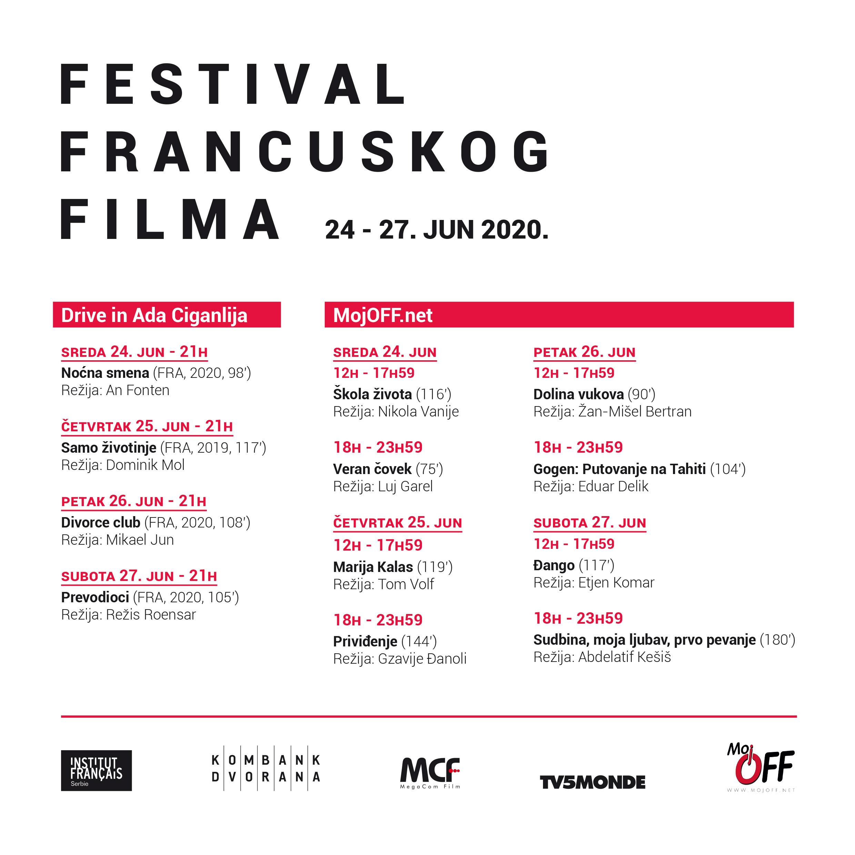 Festival francuskog filma - program
